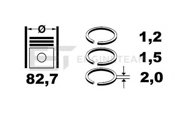 Поршневые кольца ET ENGINETEAM R1000900