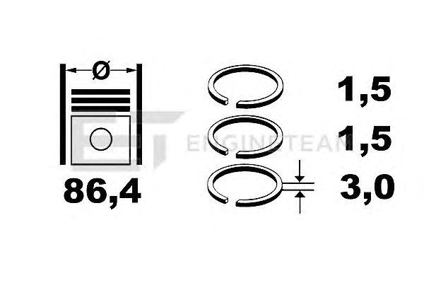 Поршневые кольца ET ENGINETEAM R1001600