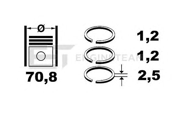 Поршневые кольца ET ENGINETEAM R1001800
