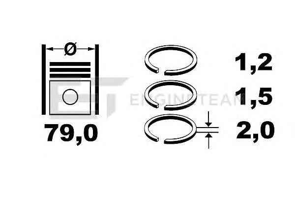 Поршневые кольца ET ENGINETEAM R1002100