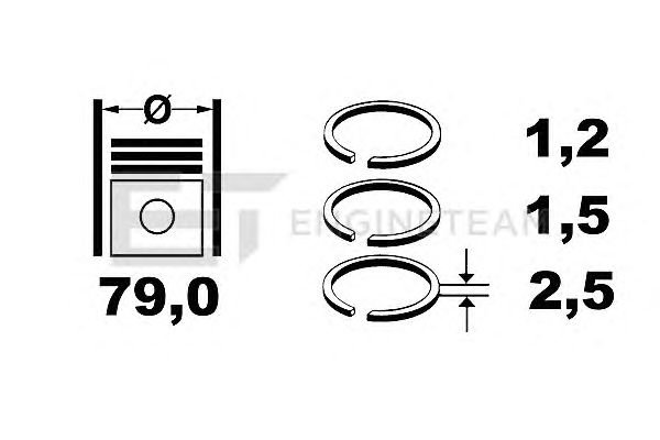 Поршневые кольца ET ENGINETEAM R1003400