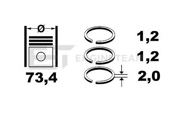 Поршневые кольца ET ENGINETEAM R1003600