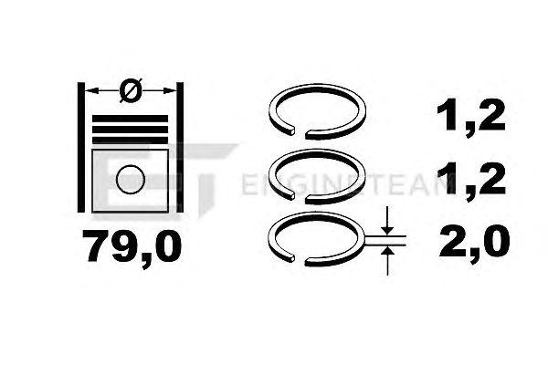 Поршневые кольца ET ENGINETEAM R1003700