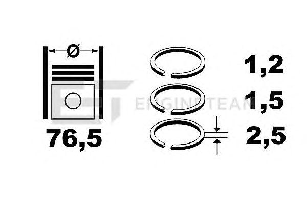 Поршневые кольца ET ENGINETEAM R1005400