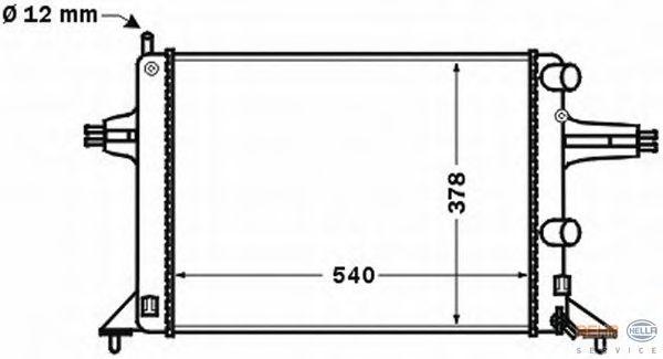 Радиатор, охлаждение двигателя BEHR HELLA SERVICE 8MK 376 771-121