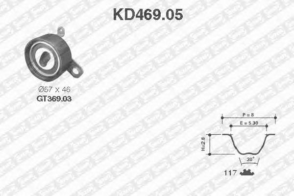 Комплект ремня ГРМ SNR KD469.05