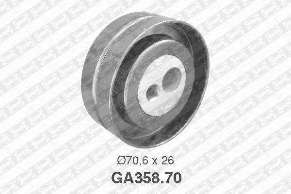 Натяжной ролик поликлинового ремня SNR GA358.70