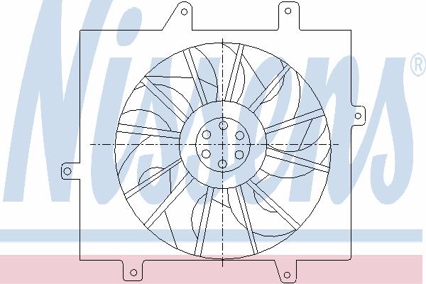 Вентилятор охлаждения NISSENS 85289