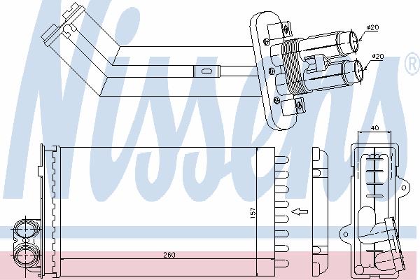 Радиатор отопителя NISSENS 73362