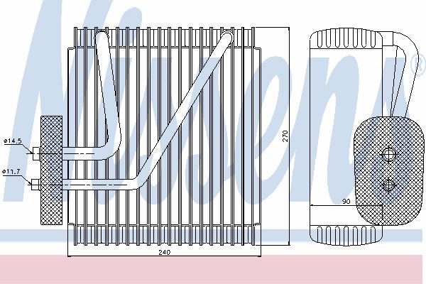 Испаритель кондиционера NISSENS 92161