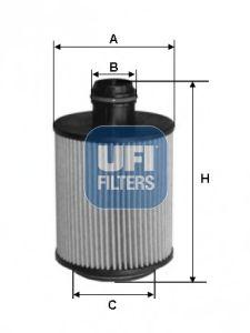 Масляный фильтр UFI 25.088.00