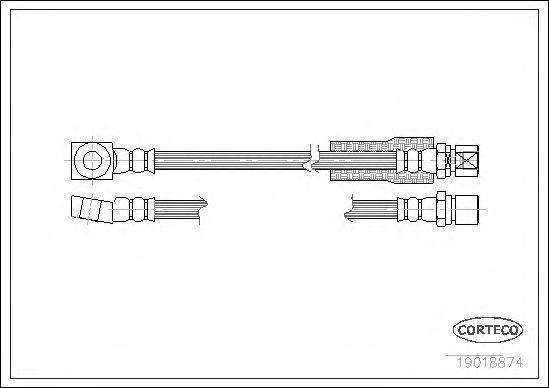 Тормозной шланг CORTECO 19018874