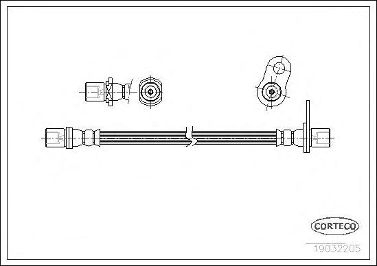 Тормозной шланг CORTECO 19032205