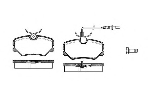 Тормозные колодки REMSA 0262.02