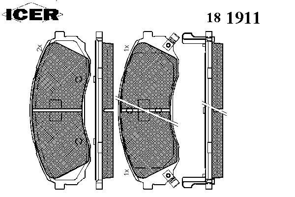 Тормозные колодки ICER 181911