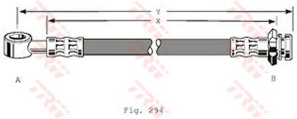 Тормозной шланг TRW PHD366