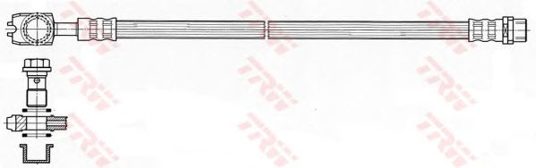 Тормозной шланг TRW PHD484
