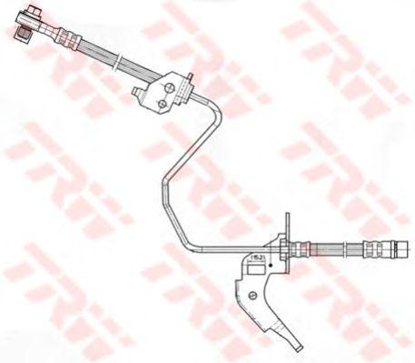 Тормозной шланг TRW PHD566