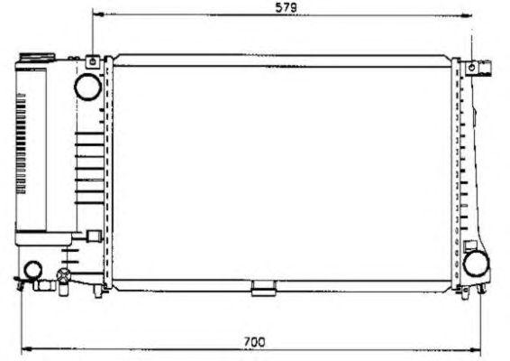Радиатор, охлаждение двигателя NRF 50568