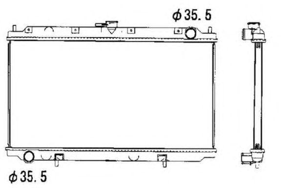 Радиатор, охлаждение двигателя NRF 52069