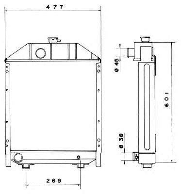 Радиатор, охлаждение двигателя NRF 52208