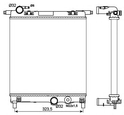 Радиатор, охлаждение двигателя NRF 53102