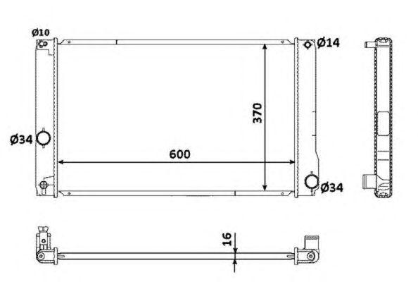 Радиатор, охлаждение двигателя NRF 53926