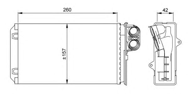 Радиатор отопителя NRF 58062