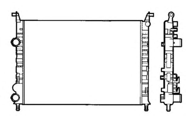 Радиатор, охлаждение двигателя NRF 58195