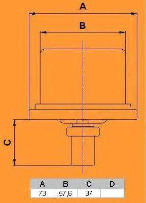 Термостат CALORSTAT by Vernet THCT16953.86