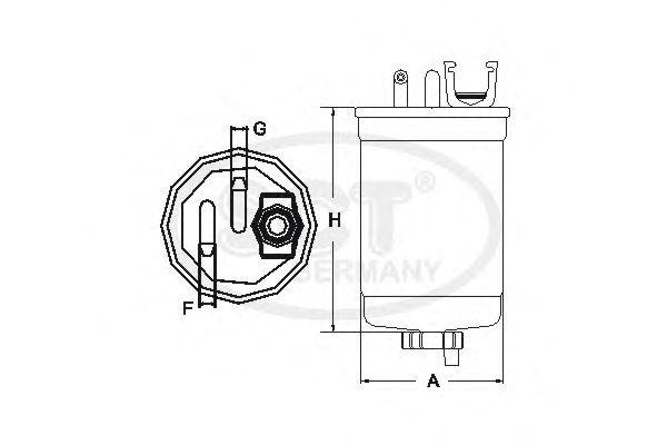 Топливный фильтр SCT Germany ST 6118