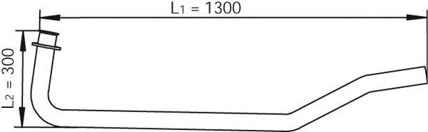 Труба выхлопного газа DINEX 47102