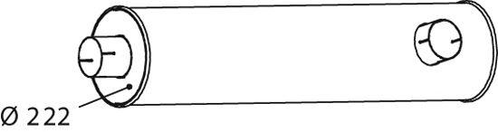 Глушитель DINEX 64448