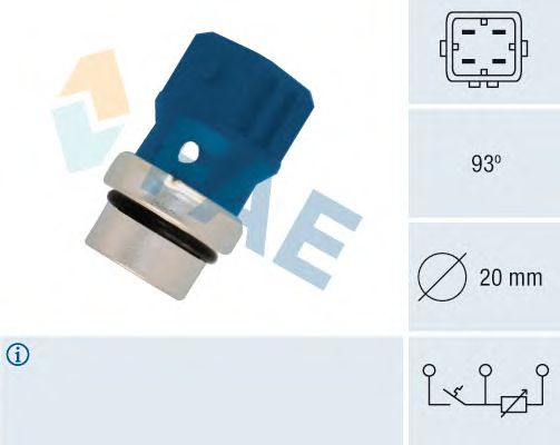 Датчик температуры охлаждающей  жидкости FAE 34330