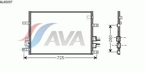 Радиатор кондиционера AVA QUALITY COOLING ALA5097