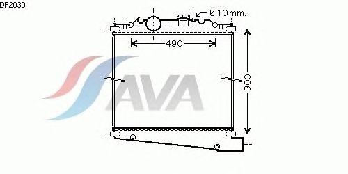 Радиатор, охлаждение двигателя AVA QUALITY COOLING DF2030