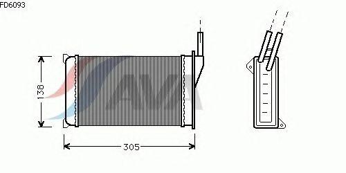 Радиатор отопителя AVA QUALITY COOLING FD6093