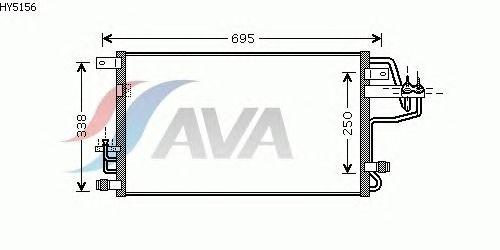 Радиатор кондиционера AVA QUALITY COOLING HY5156