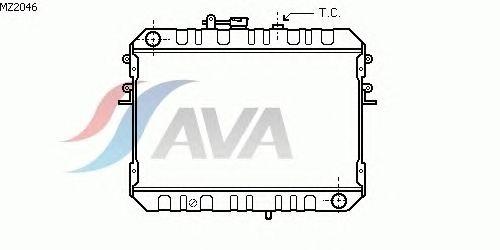 Радиатор, охлаждение двигателя AVA QUALITY COOLING MZ2046