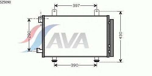 Радиатор кондиционера AVA QUALITY COOLING SZ5090