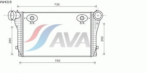 Интеркулер AVA QUALITY COOLING VW4319