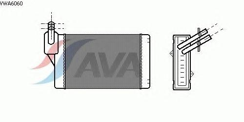 Радиатор отопителя AVA QUALITY COOLING VWA6060