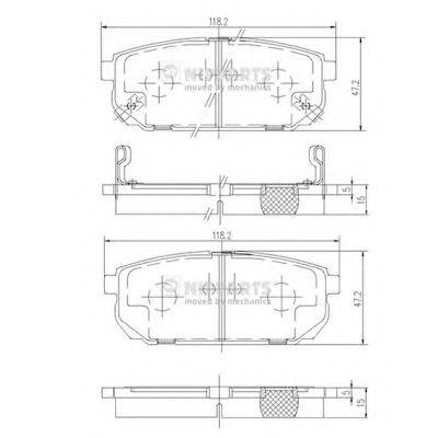 Тормозные колодки NIPPARTS J3610305