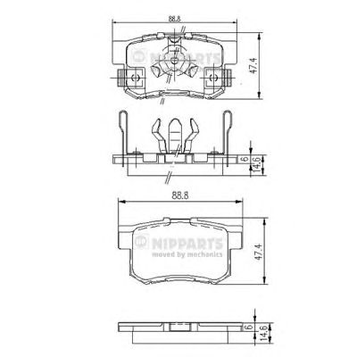Тормозные колодки NIPPARTS J3614017