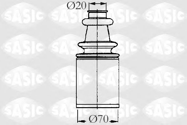 Комплект пыльника ШРУСа SASIC 2873693