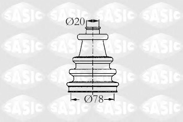 Комплект пыльника ШРУСа SASIC 2933743