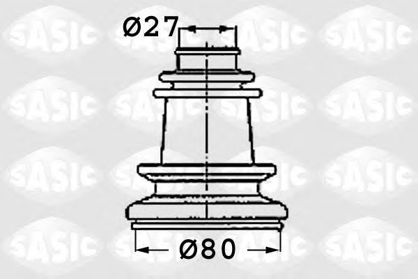 Комплект пыльника ШРУСа SASIC 4003409