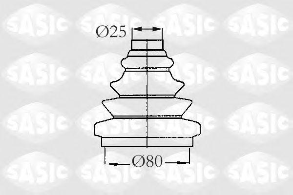 Комплект пыльника ШРУСа SASIC 2933013