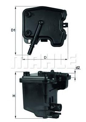 Топливный фильтр MAHLE ORIGINAL KL 431D