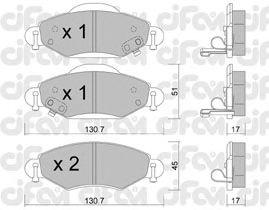 Тормозные колодки CIFAM 822-421-0